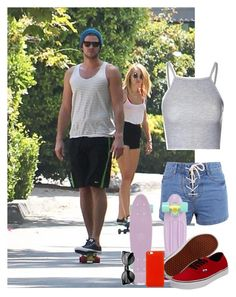 """Penny boarding with Miley and Liam!"" by allysagirl101 ❤ liked on Polyvore"