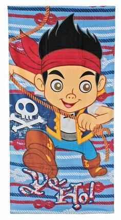 Toalla de playa Jake y los Piratas de Nunca Jamás Preciosa toalla de playa con la imagen de Jake basado en la serie de animación Jake y los Piratas de nunca Jamás.