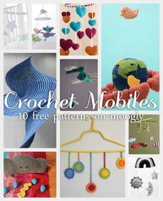 10 More Perfect Crochet Squares for Afghans Crochet Mobiles – 10 Free Patterns to Dress Up Any Room! Crochet Baby Mobiles, Crochet Mobile, Crochet Baby Toys, Crochet Home, Crochet Yarn, Crochet Round, Crochet Squares, Love Crochet, Crochet For Kids
