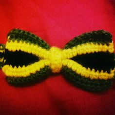 Does this #handmade #Crochet #bowtie look enough like a #jamaican flag? #wip #Doppelgangerzone