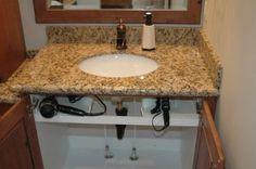 under sink curling iron/flat iron/blow-dryer storage