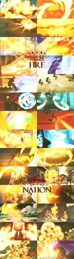 """Fire is the element of power. The people of the Fire Nation have desire and will, and the energy and drive to achieve what they want."" My all time favourite element😃😃😃😃 Korra Avatar, Team Avatar, Best Television Series, Avatar Picture, Avatar Cartoon, Avatar World, My Fantasy World, Spirit World, Azula"