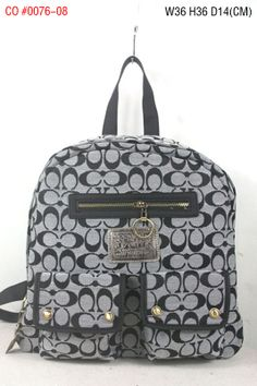 Coach Mini Signature Multi Pocket Backpack Blue