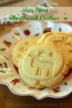 Marzipan Shortbread Cookies by Kirsten | My Kitchen in the Rockies #recipe #Christmas #German