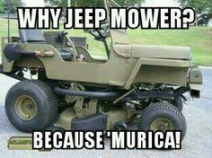 Willys Jeep Lawn Mower Murica