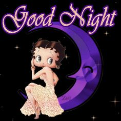 Betty Boop Glitter Graffic Wallpaper Glitter Graphics: the community for graphics enthusiasts! Good Night Friends, Good Night Gif, Good Night Wishes, Good Night Image, Good Night Quotes, Gif Animé, Animated Gif, Imagenes Betty Boop, Boop Gif
