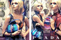 Sasha Pivovarova Prada 2008 Spring/Summer Campaign photographed by Steven Meisel Sasha Pivovarova, Steven Meisel, Tricia Gosingtian, Prada Purses, Prada Bag, Summer Campaign, Zara, Prada Spring, Vogue