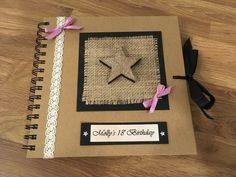 Personalised Birthday Scrapbook Photo Album, Party Guest Book, Memory Book Choice of colours an 18th Birthday Gifts For Best Friend, Best Friend Gifts, Fancy Shop, Birthday Photos, Birthday Ideas, Handmade Scrapbook, 18th Birthday Party, Birthday Scrapbook, Photo Album Scrapbooking