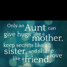 For the aunties. SO thankful for my aunt loving her great niece and nephew so well. She is the best!!!!