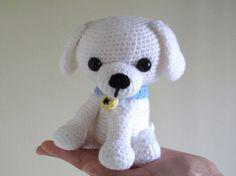 Белая собачка   600 схем амигуруми на русском