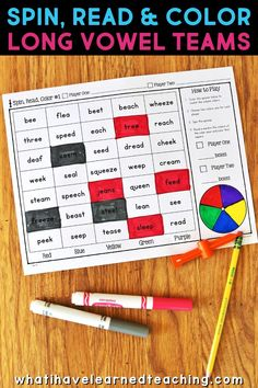 Phonics Partner Games are fun way to help your students practice reading specific phonics patterns. Games are played with a partner and engage students in both word reading and sentence reading. This set of phonics games is for long vowel teams and includes EE, EA, AI, AY, OA, OE, IGH, IE and a mix of all those vowel patterns. Teachers love using these games in a literacy center and children love playing with their friends! Teaching Reading, Teaching Resources, Teaching Ideas, Teaching Second Grade, First Grade Teachers, Cooperative Learning Strategies, Fun Learning, Word Reading, Dots And Boxes