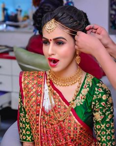 Trendy wedding indian makeup bridal looks deepika padukone 51 Ideas Indian Bridal Outfits, Indian Wedding Hairstyles, Indian Bridal Makeup, Indian Bridal Fashion, Bride Hairstyles, South Indian Bride Hairstyle, Indian Bridal Lehenga, Wedding Makeup, Bridal Lehenga Collection