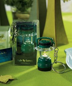 Miniature Camping Lantern Key Chain in Novelty Gift Packaging