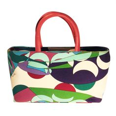 New Emilio Pucci Commessa Tote Handbag   From a collection of rare vintage tote bags at https://www.1stdibs.com/fashion/handbags-purses-bags/tote-bags/