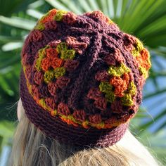 Ravelry: Granny Triangles hat, free pattern by Anne Rousseau