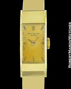 PATEK PHILIPPE VINTAGE LADY'S HIGH TOP REF. 2292 18K GOLD 1950'S