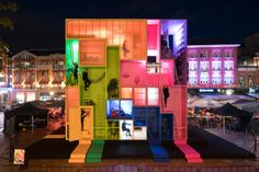 MVRDV Explores Architecture With Multicolored Tetris-Like Build