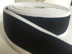 2 inch black and white elastic webbing by NoaElastics on Etsy