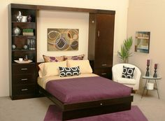 bedroom design ideas for small spaces and bedroom style for small rooms Small Bedroom Interior, Small Space Bedroom, Small Spaces, Small Rooms, Bedroom Modern, Build A Murphy Bed, Murphy Bed Plans, Bedroom Sets, Girls Bedroom