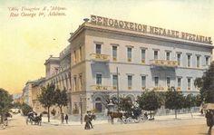 End of century - Hotel Grande Bretagne Attica Athens, Athens City, Athens Greece, Greece Pictures, Old Pictures, Old Photos, Athens History, Greece History, Century Hotel