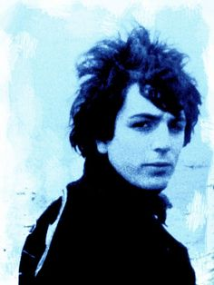 Syd Barrett's image the first leader of pink floyd.