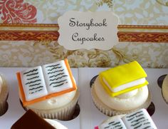 Mini Storybook Cupcake Toppers 1 Dozen by sweetenyourday on Etsy School Cupcakes, Book Cupcakes, Fun Cupcakes, Cupcake Cookies, Cupcake Wars, Cupcake Toppers, Cake Decorating Tips, Cookie Decorating, Chocolates