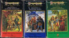 """This series got the """"fantasy"""" ball rolling for me back in high school. I read *every* Dragonlance book for *years*, and that is largely why my Goodreads number is so high!"""