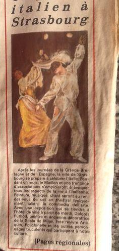 #Strasburgo Regard sur la Commedia dell'arte #DoloresPuthod #FerruccioSoleri #CommediaDellArte