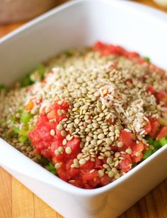 Southwestern Lentil and Brown Rice Bake