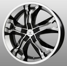 "20"" Verde Jaggedge Black Wheels Rims...Love these!"