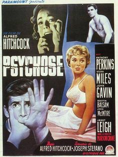 Classic Horror Movie Favorites Anthony Perkins and Janet Leigh check spelling versus other posters Alfred Hitchcock, Hitchcock Film, Horror Movie Posters, Cinema Posters, Film Posters, Anthony Perkins, Old Movies, Vintage Movies, Vintage Stuff