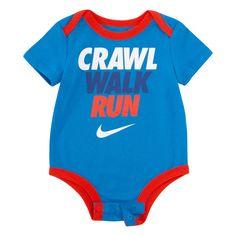 "Baby Boy Nike ""Crawl Walk Run"" Bodysuit, Size: 3 Months, Turquoise/Blue Baby Boy Nike, Boys Nike, Newborn Boy Clothes, Baby Boy Newborn, Baby Baby, Twin Outfits, Baby Boy Outfits, Crawl Walk Run, Baby's First Haircut"