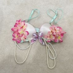 Victoria Secret(PINK) Rave Bra Made by me. Hello kitty theme. It is very cute. Push-up padding. Bra retail;$49 Victoria's Secret Accessories