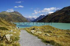 Bild als FotoTapete kaufen FineArtPrint 11363622 Riedel Tanja alpen aviana berge bergsee büro deko einrichtung herbst himmel hochalpen impressionen ...