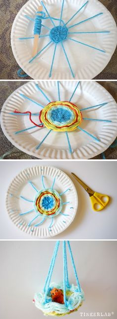 Kids Weaving Project | Circle Weaving With a paper plate