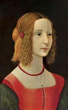 Portrait of a girl Domenico Ghirlandaio