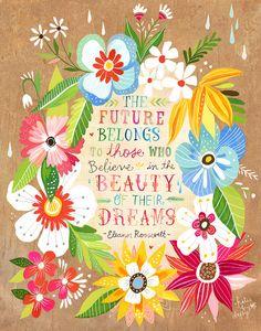 Beauty of Your Dreams  Eleanor Roosevelt art by thewheatfield