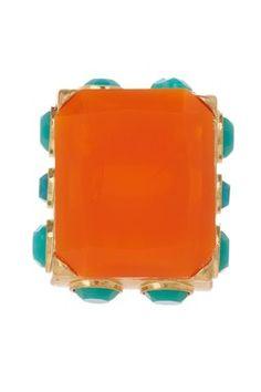 Orange Rectangle Ring