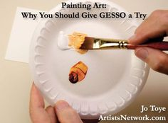 Using gesso on yupo and as white to make acrylic tints. Jo Toye explains ArtistsNetwork.com #painting #art
