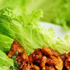 Quick & Easy Dinner Recipes - Chicken Cashew Lettuce Wraps - Click Pic for 40 Cheap & Healthy Meals on a Budget