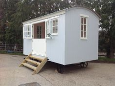 Shepherds Hut - love the double doors and windows, lots of natural light.