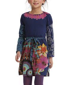 Loving this Desigual Azul Felicia Belted Tunic - Girls on #zulily! #zulilyfinds