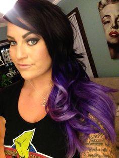 Ombré Purple Hair Pravana Vivids xOxO