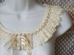 Vintage Crochet Lace Collar, Upcycled, Edwardian, Victorian, Renaissance, Recycled via Etsy