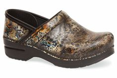 Dansko Professional Brush Off Floral Patent, and they are mine