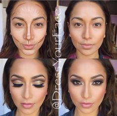 Facial contouring!! A must for makeup application