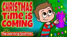 """View for FREE: Christmas song for children animated music video """"Christmas Time is Coming"""". Your children will love this popular Christmas song that that includes lyrics for early readers. This song is great for preschool, kindergarten and lower elementary age children. It's also a hit performed at school assemblies or family nights."""