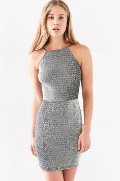 7b97842cc1c Oh My Love Alanis Metallic Bodycon Mini Dress