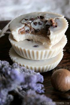 Raw vegan tahini cups with coffee cream filling