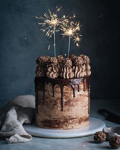 This Nutella Stuffed Chocolate Hazelnut Dream Cake just hit the blog. This cake is my ultimate celebration cake...the cake to end all cakes. Will someone make me one for my birthday? Pleeeease?!